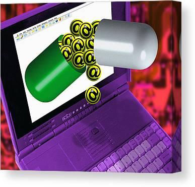 Internet Addiction Canvas Prints