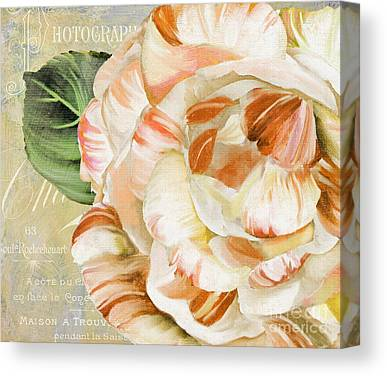 Pink Camellia Canvas Prints
