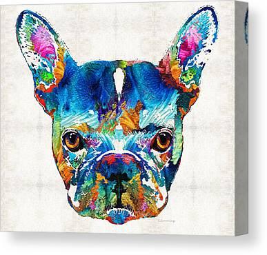 French Bull Dog Canvas Prints