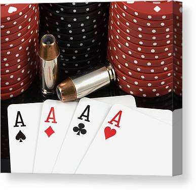 Poker Chips Canvas Prints