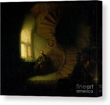 Staircase Paintings Canvas Prints