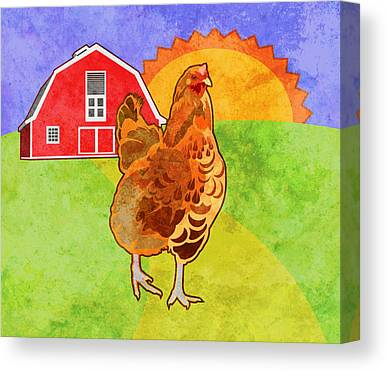Rooster Canvas Prints