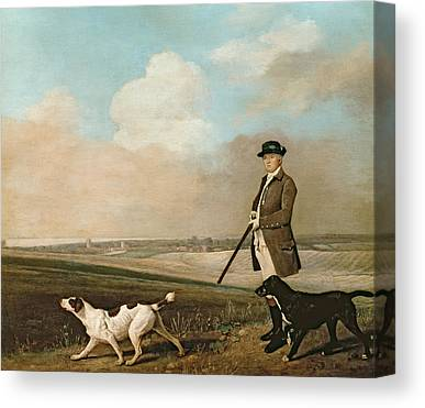 Dog In Landscape Canvas Prints