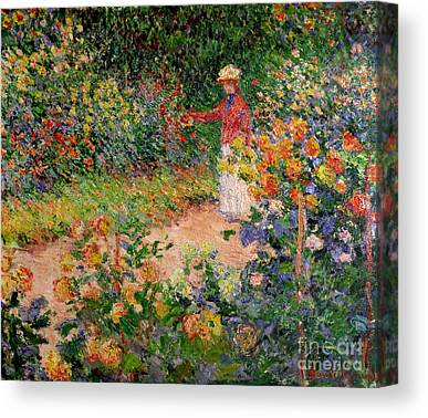 Flower Picker Canvas Prints