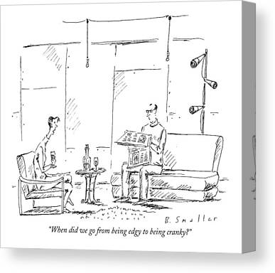 Decanters Drawings Canvas Prints