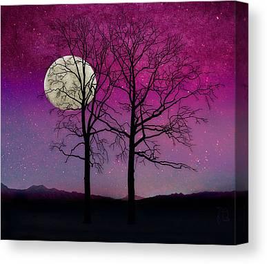 Bare Trees Mixed Media Canvas Prints