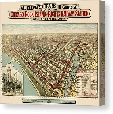 Vintage Railroad Canvas Prints
