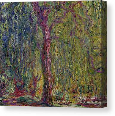 Impasto Tree Canvas Prints