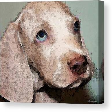 Weimaraner Puppy Canvas Prints