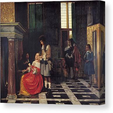 Pieter De Hooch Canvas Prints