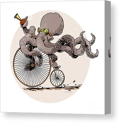 Cycling Canvas Prints