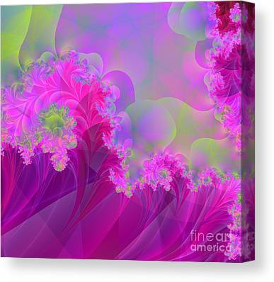 Green Surreal Geometry Canvas Prints