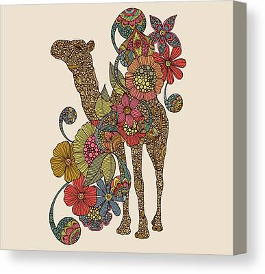 Camels Canvas Prints