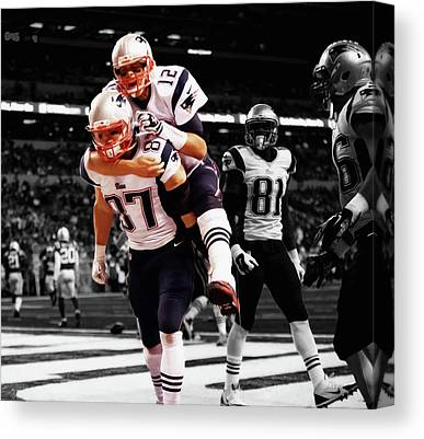 Tebow Mixed Media Canvas Prints