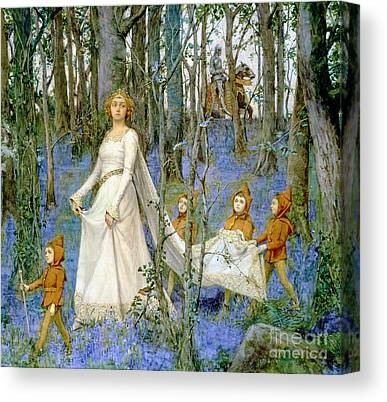 Woodlands Scene Paintings Canvas Prints
