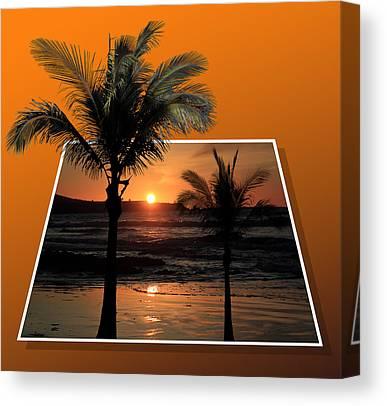 Setting Sun Mixed Media Canvas Prints
