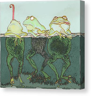 Amphibians Mixed Media Canvas Prints