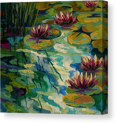 Water Lily Art Canvas Prints