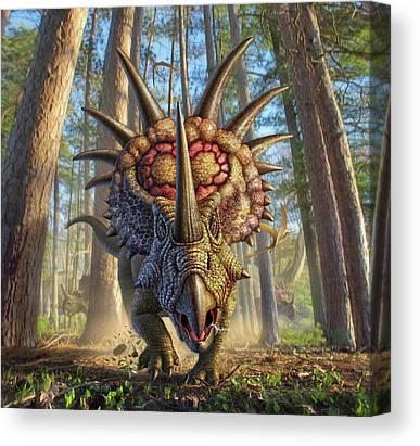 Beak Digital Art Canvas Prints
