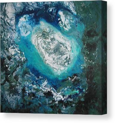 Aeriel View Paintings Canvas Prints
