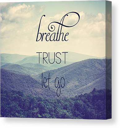 Breathe Canvas Prints