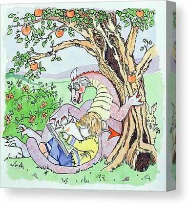 Apple Tree Drawings Canvas Prints