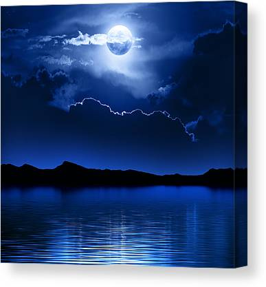 Moonscape Canvas Prints