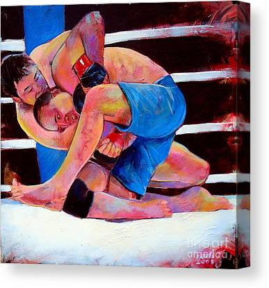 Japenese Wrestler Canvas Prints
