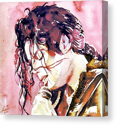 Michael Jackson On Stage Singing Canvas Prints