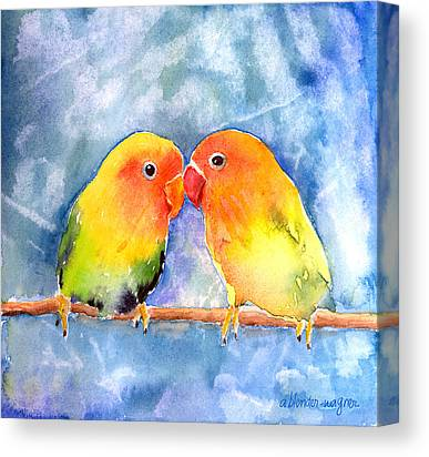 Lovebird Canvas Prints