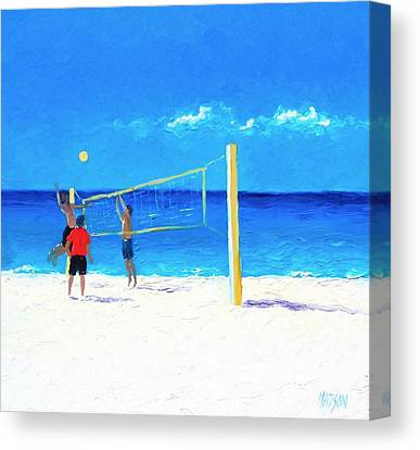 Volleyball Canvas Prints