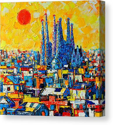 Barcelona Paintings Canvas Prints