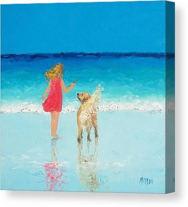 Golden Retrievers On Canvas Prints
