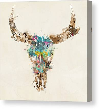 Cow Skull Canvas Prints