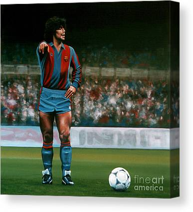 Diego Maradona Canvas Prints