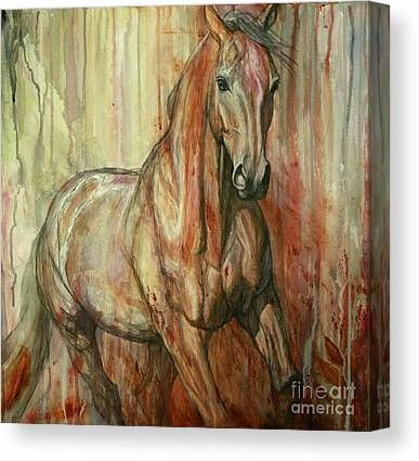Galloping Canvas Prints