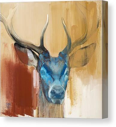 Red Deer Canvas Prints
