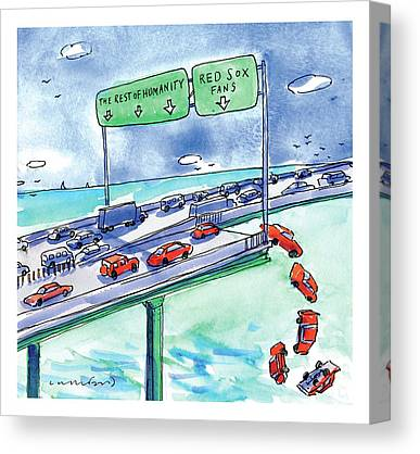 Cars Drawings Canvas Prints