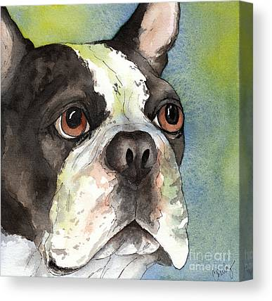 Watercolor Pet Portraits Canvas Prints