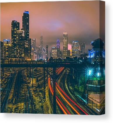 Chicago Skyline Canvas Prints