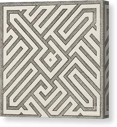 Optical Illusion Maze Canvas Prints