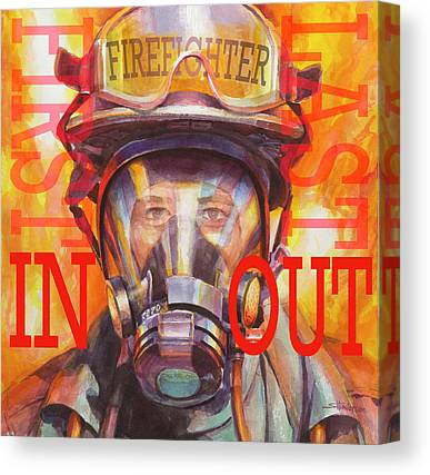 Firefighters Canvas Prints