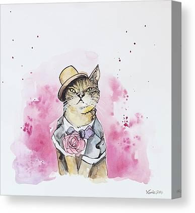 Tuxedo Cat Canvas Prints