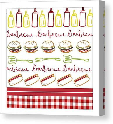 Checked Tablecloths Photographs Canvas Prints
