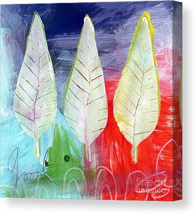 Falling Leaf Canvas Prints