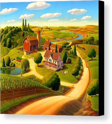 Rural Scene Canvas Prints