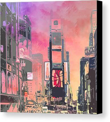 Times Square Canvas Prints