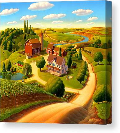 Rural Landscapes Paintings Canvas Prints