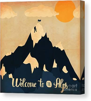 Swiss Alps Canvas Prints