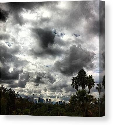 Los Angeles Skyline Canvas Prints